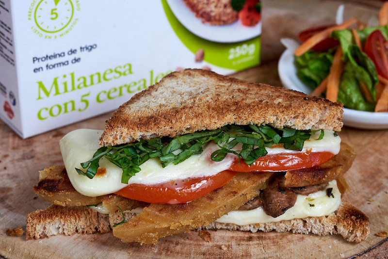 Caprese sandwich on the grill