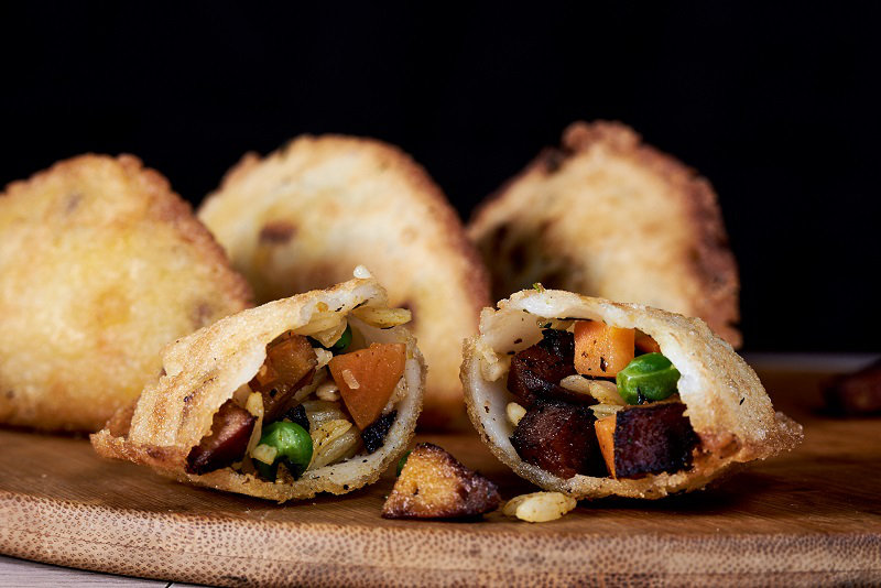 Vegan puff pastry empanada