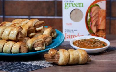 Vegan puff pastry rolls