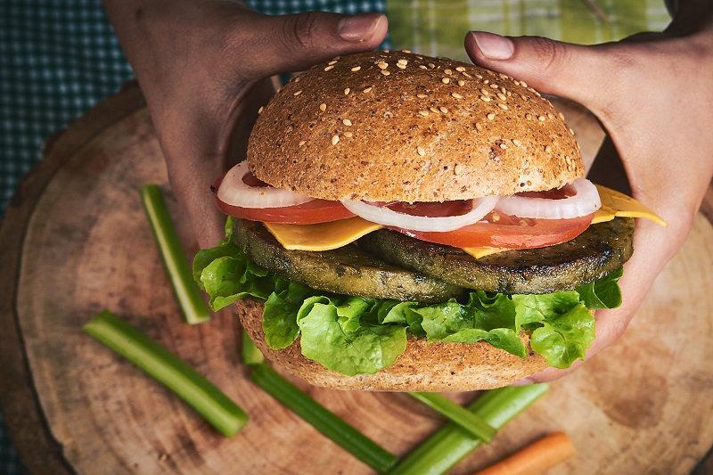 Classic vegan burger