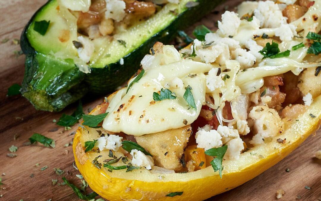 Zucchini con relleno vegano